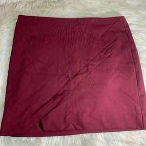 Metaphor Plus Size 14 A Line Wine Colored Skirt Co